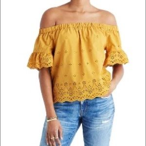 Madewell Off Shoulder Blouse